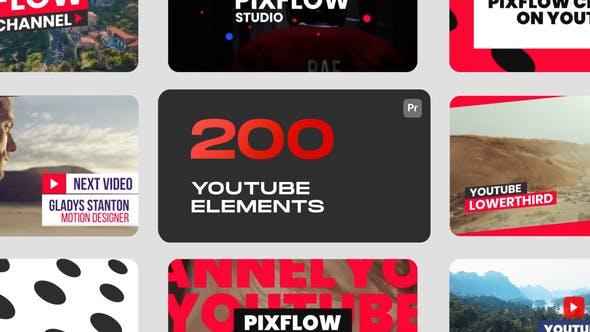 PR脚本-38组社交媒体视频网站文字标题设计宣传动画 YTB Elements for Premiere Pro