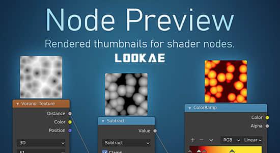 Blender插件-节点缩略图可视化预览 Node Preview V1.5