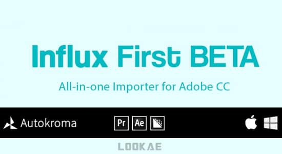 AE/PR插件-多种特殊视频编码格式素材直接导入软件工具 Influx Free Beta V0.7.0beta7 Win/Mac