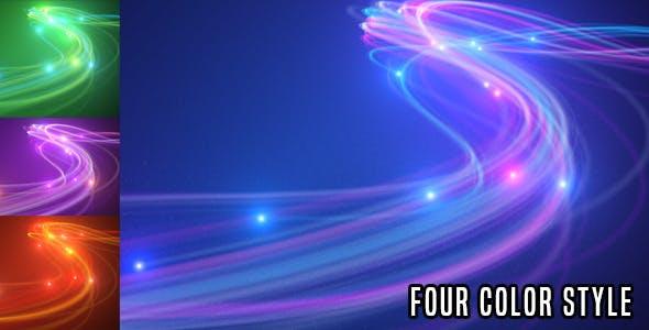 AE模板-漂亮唯美粒子发光线条LOGO标志片头动画 Light Streaks Logo Reveal V2