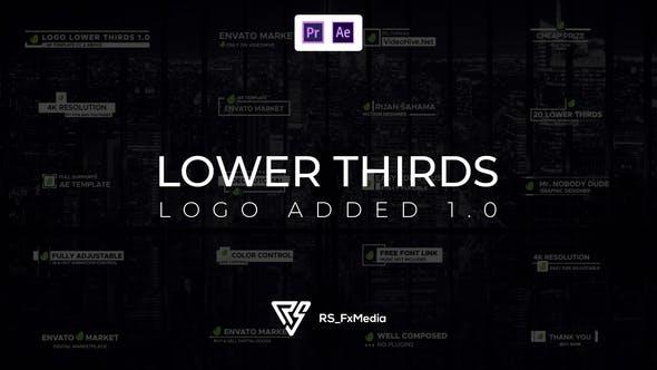 AE/PR模板-带公司LOGO字幕条标题动画 Lower Thirds Logo Added