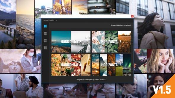 AE脚本-视频分屏多画面网格组合动画 Multi Screen Split Divider Extension V1.5
