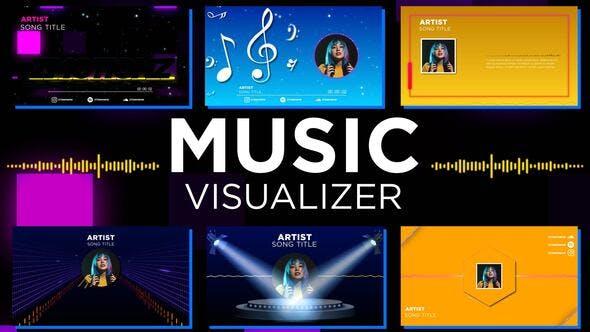 AE模板-音频可视化图形包装展示动画 Music Visualizer Pack