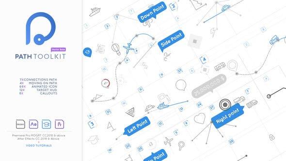 AE/PR模板-自定义路径信息数据图表动画制作工具 Path Toolkit Diagram Chart Maker