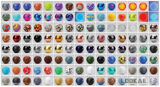 Blender预设-200种漂亮实用抽象陶瓷泥土金属油漆真实材质贴图预设 Realtime Materials