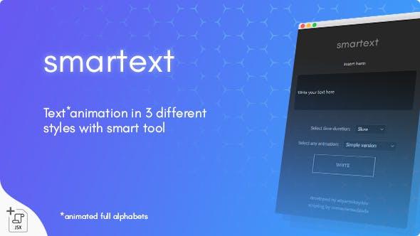 AE脚本-智能文字标题动画生成器 Smartext – Animated Text Tool